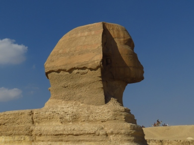 La Sfinge di profilo, Giza, 2550 a.C. circa